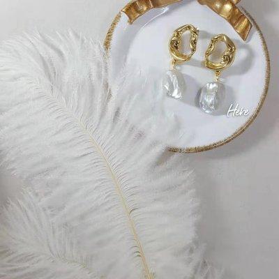 冷光淡水巴洛克珍珠s925银针耳钉时尚欧美风